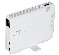 Маршрутизатор моб. Wi-Fi D-Link DIR-506L, 802.11 b/n/g (2.4Ггц,150Mbps), Li-ion, USB 2.0, mini-USB